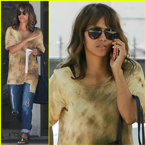 Halle Berry Is Back in Los Angeles After Vacationing with Olivier Martinez