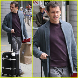Hugh Dancy Arrives in Vancouver to Begin Filming 'Fifty Shades Darker'