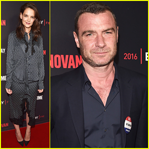 Katie Holmes Reunites With Liev Schreiber At 'Ray Donovan' Screening!