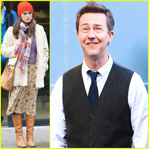 Keira Knightley Films 'Collateral Beauty' With Edward Norton