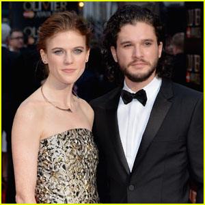 Kit Harington & Rose Leslie Make First Red Carpet Appearance Together at Olivier Awards 2016