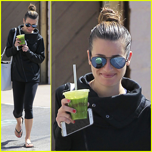 Lea Michele Hits the Gym After Return From Coachella