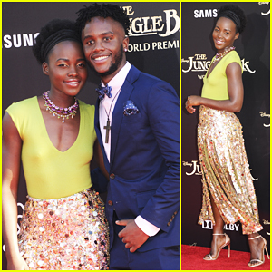 Lupita Nyong'o Brings Brother Peter To 'Jungle Book' Premeire!