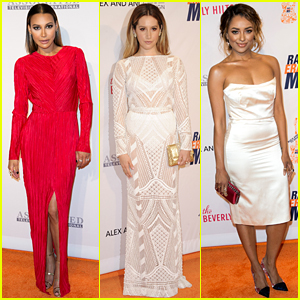 Naya Rivera & Ashley Tisdale Support a Great Cause at Race to Erase MS Gala!
