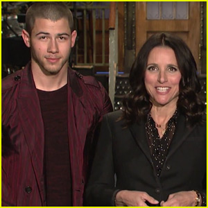 Julia Louis-Dreyfus is Nick Jonas' Biggest Fan in New 'SNL' Promo