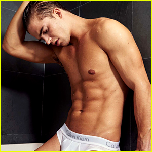 River Viiperi Strips to His Underwear for Sexy Bathtub Shoot