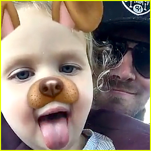 Stephen Amell Tests Out Snapchat Filters with Daughter Mavi!