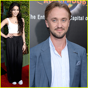 Vanessa Hudgens & Tom Felton Hit Up 'Wizard World of Harry Potter' Grand Opening
