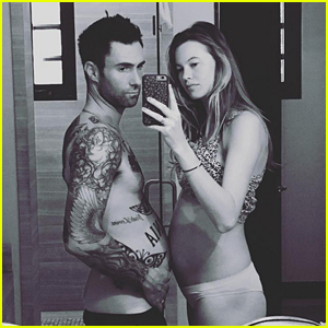 Adam Levine Compares Baby Bumps With Behati Prinsloo