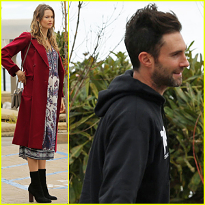 Adam Levine & Pregnant Behati Prinsloo Have Low Key Mother's Day In Malibu!