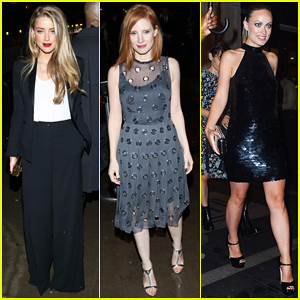 Amber Heard, Jessica Chastain & Olivia Wilde Switch Up Looks At Met Gala 2016 After Party!