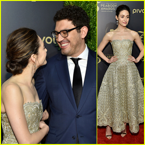 Emmy Rossum Joins Fiance Sam Esmail at Peabody Awards 2016