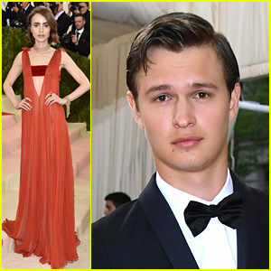 Lily Collins Joins Ansel Elgort at Met Gala 2016