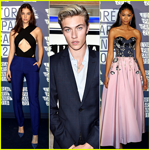 Barbara Palvin Joins Lucky Blue Smith & Chanel Iman for Blue Obsession Party