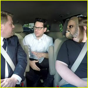 Chewbacca Mom Candace Payne Meets Star Wars' J.J. Abrams in James Corden's Carpool - Watch Now!