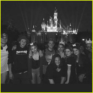 Chloe Moretz & Brooklyn Beckham Couple Up at Disneyland!