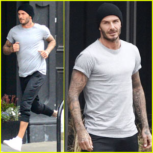David Beckham Races Around London While Filming New Adidas Ad
