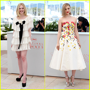 Elle Fanning & Bella Heathcote Wow in White at 'Neon Demon' Photo Call