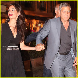 George Clooney & Amal Couple Up for Romantic Rome Dinner