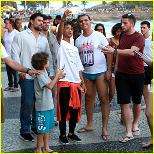 Jaden Smith Chills Out In Rio Ahead of LV Cruise Collection Fashion Show