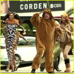 Seth Rogen & Rose Byrne Perform 'Lion King' in Crosswalk with James Corden - Watch Now!