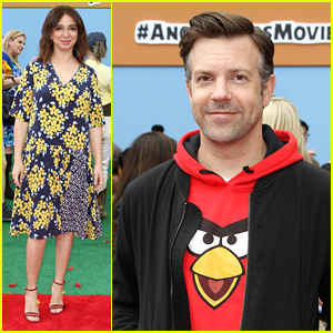 Jason Sudeikis Joins Maya Rudolph for 'Angry Birds' Premiere