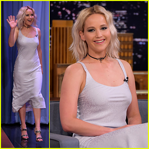 Jennifer Lawrence Shines in Silver on 'Tonight Show Starring Jimmy Fallon'