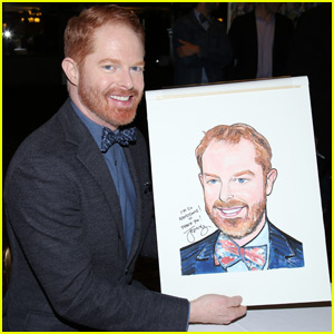 Jesse Tyler Ferguson Gets Animated for Caricature at NYC's Sardi's