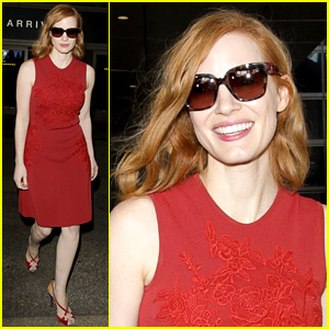 Jessica Chastain Lands Back in Los Angeles After Cannes 2016