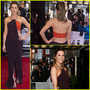 Kate Beckinsale Works the Red Carpet at 'Love & Friendship' UK Premiere