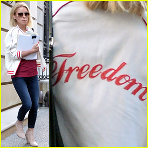 Kelly Ripa Wears 'Freedom' Jacket Ahead of Michael Strahan's 'Live' Exit