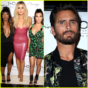 Khloe & Kourtney Kardashian Attend Scott Disick's Vegas Birthday Party!
