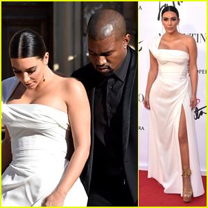 Kim Kardashian & Kanye West Make Elegant Entrance at Italian Gala
