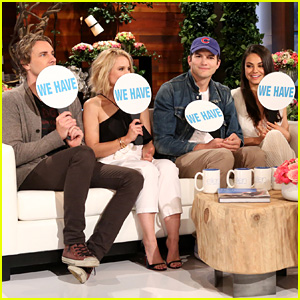 Mila Kunis, Ashton Kutcher, Kristen Bell & Dax Shepard Play 'Never Have We Ever' on 'Ellen' - Watch!