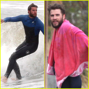 Liam Hemsworth Strips Out of His Wetsuit After Surfing Session