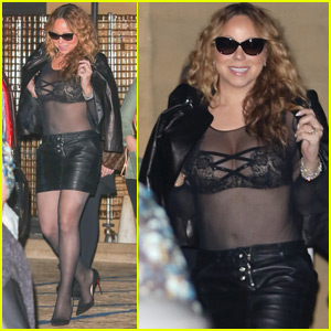 Mariah Carey Goes Sheer While Out to Dinner