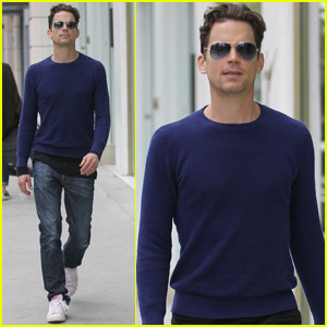 Matt Bomer Takes a Break From Filming 'Anything'