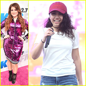 Meghan Trainor Sparkles On Stage at Wango Tango With Alessia Cara