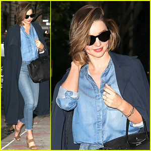 Miranda Kerr Does Double Denim in NYC