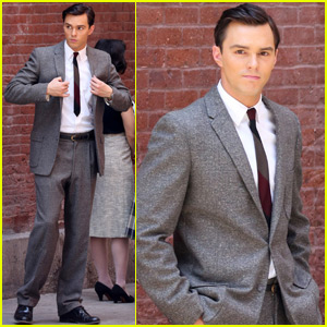 Nicholas Hoult Continues Filming 'Rebel in the Rye'