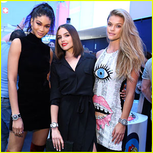 Nina Agdal, Chanel Iman & Olivia Culpo Celebrate Swatch's New Pop Collection