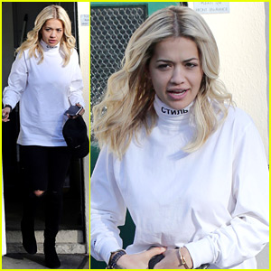 Rita Ora Shares Behind the Scenes Pics from 'Fifty Shades' Set
