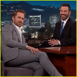 Ryan Gosling's Suit Was Way Too Tight on 'Kimmel'! (Video)