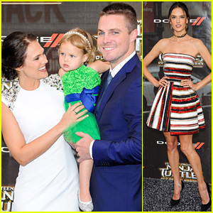Stephen Amell & Wife Cassandra Jean Bring Adorable Daughter Mavi to 'TMNT' Premiere!