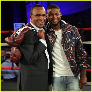 Usher Supports Sugar Ray Leonard Foundation Boxing Night