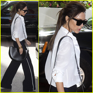 Victoria Beckham Heads Home After Cannes Film Festival