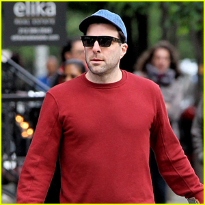 Zachary Quinto Enjoys Sunday Stroll With His Dogs