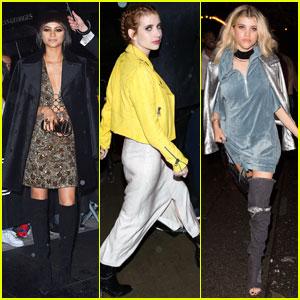Zendaya & Emma Roberts Change into More Comfortable Ensembles for Met Gala 2016 Parties