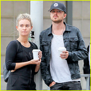 Aaron Paul & Wife Lauren Enjoy Their Morning in NYC