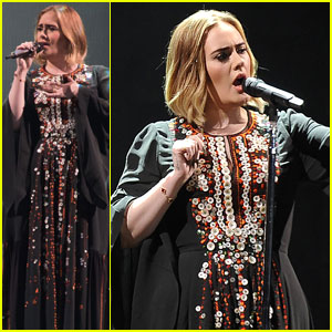 Adele Celebrates Pride at Glastonbury Festival 2016